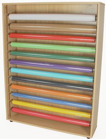 Mueble para rollos de papel con patas material escolar material de oficina - Papeles adhesivos para muebles ...