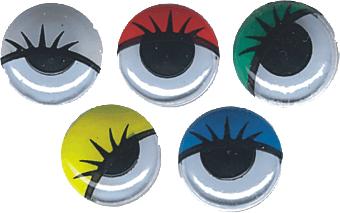 Ojos Móviles con Pestañas