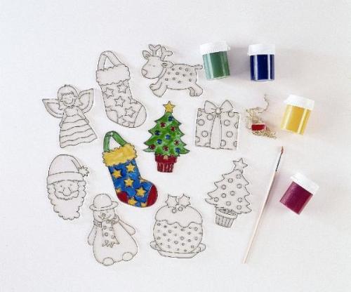 Figuras de navidad de cristal para decorar material for Figuras de navidad para decorar