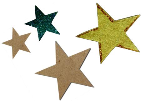 Figuras Estrellas Cartón Rígido Ecológico