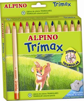 Lápices Triangulares Alpino Trimax