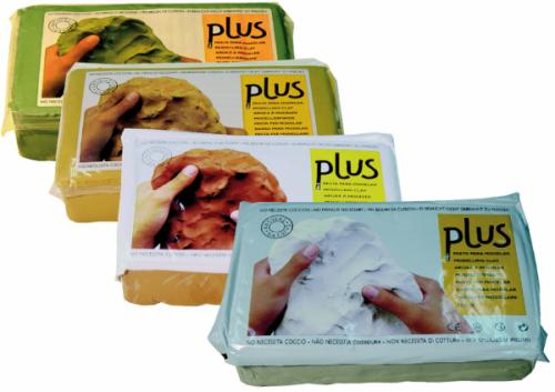 Pasta natural de modelar plus material escolar - Pasta para modelar manualidades ...