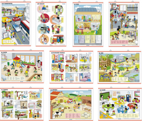 Láminas los Entornos Infantiles Edigol (70x100 cm)