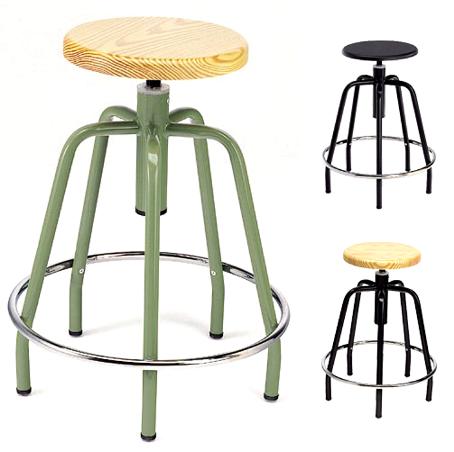 Taburete giratorio mod 290 seient madera material - Taburete madera regulable ...