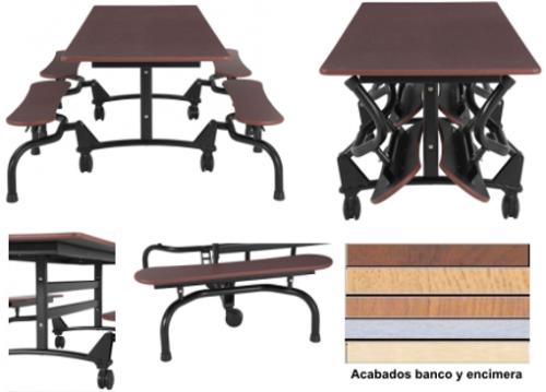 Mesa con Bancos Abatibles.