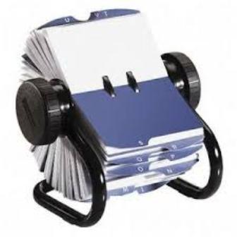 Fichero rotativo rolodex material escolar material de for Ficheros para oficina