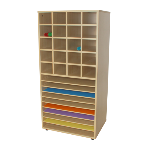 Mueble cartulinas y 20 casillas material escolar - Mobiliario para libreria ...