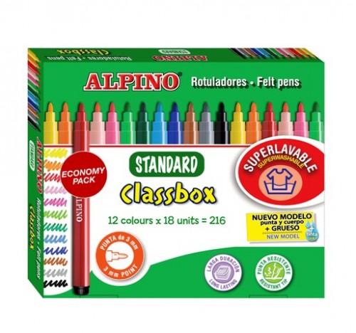 Kit Escolar de rotuladores Alpino Standard