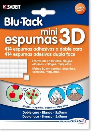 Mini espumas adhesivas 3D