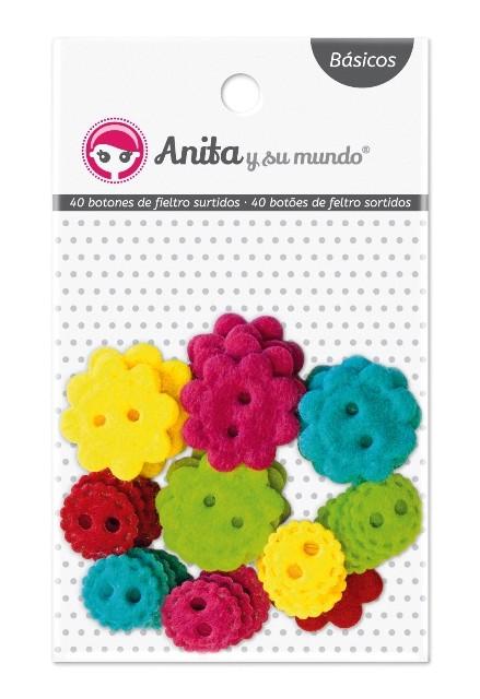 Botones de fieltro Anita