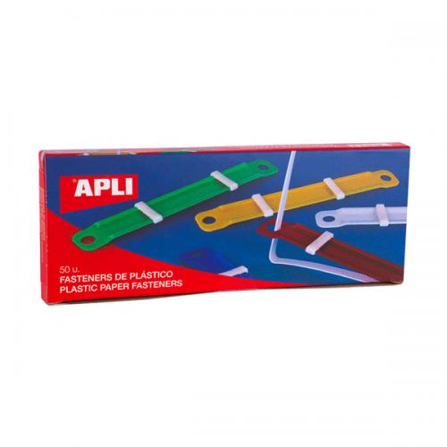 Fastener Apli plástico de colores