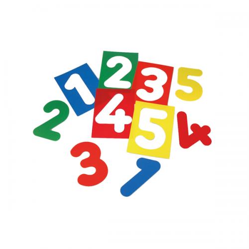 Siluetas de números traslúcidas