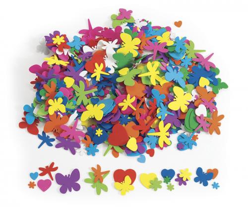 Flores, corazones e insectos de Eva