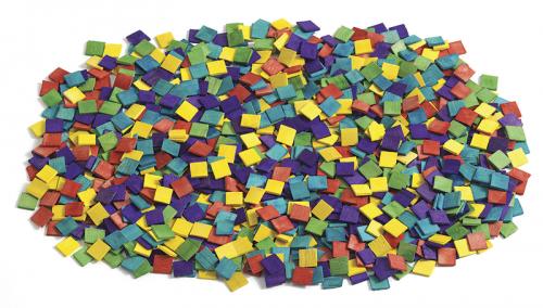 Teselas de mosaico de madera