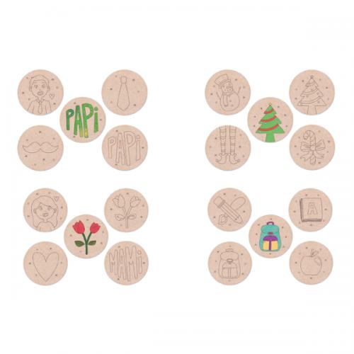 Posavasos de madera para decorar
