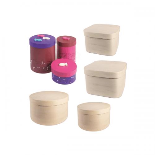 Cajas de chapa de madera