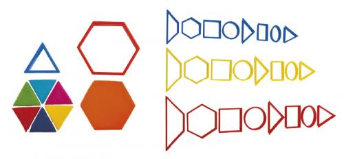 Moldes de formas geométricas