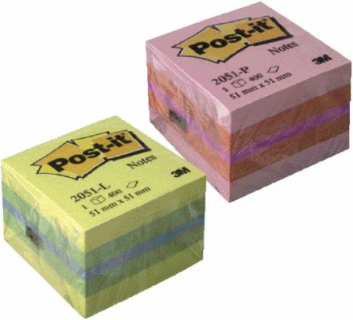 Notas de Quita y Pon 3M Post-it en Minicubos