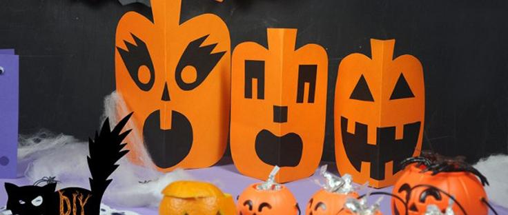 5 manualidades para halloween material escolar - Manualidades calabazas halloween ...