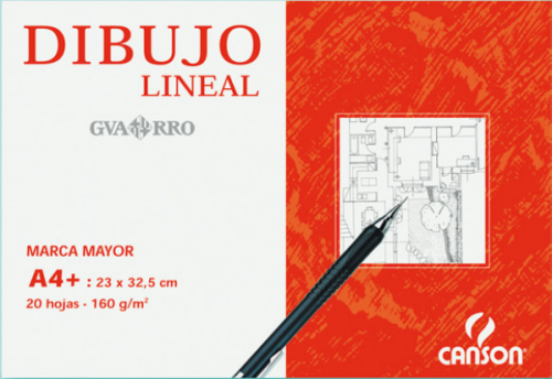 Bloc de dibujo lineal Guarro Basik A4+