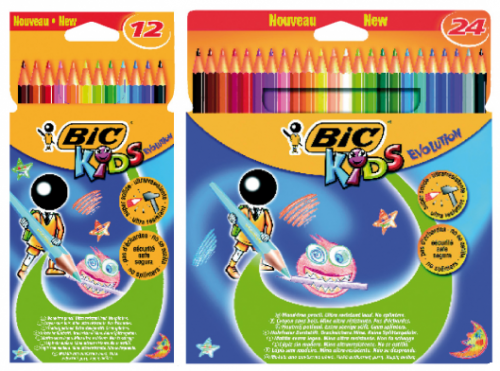 Lápices de Colores Bic Evolution Stripes