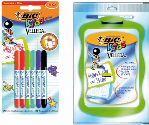 Estuche 6 rotuladores mini Velleda Bic kids