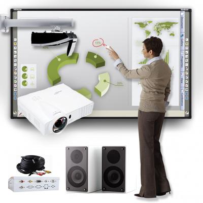 Pack Pizarra Interactiva Hitachi + Proyector Optoma + Soporte + Altavoces + Caja Conexiones