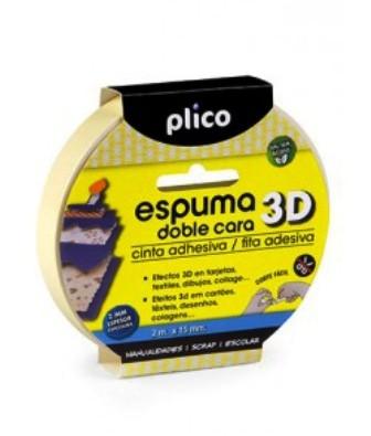 Cinta espuma adhesiva doble cara 3D