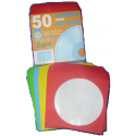 Fundas papel CD/DVD Colores SAM